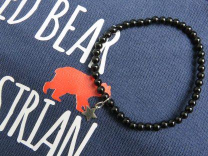 black-star-Obsidian-handmade-beaded-bracelet