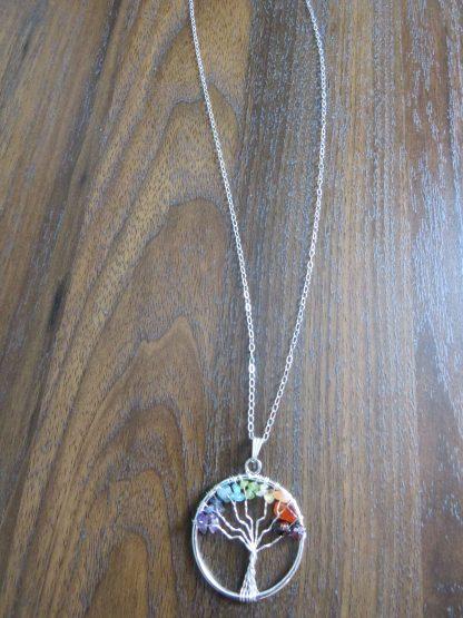 handmade-Chakra-tree-of-life-silver-necklace-min