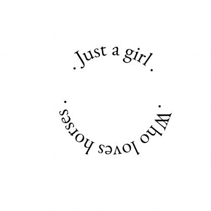 just a girl logo