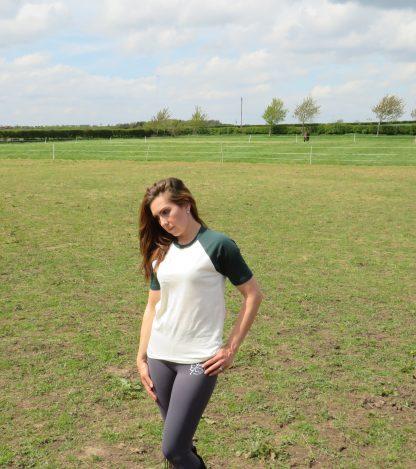 lady in field in t-shirt