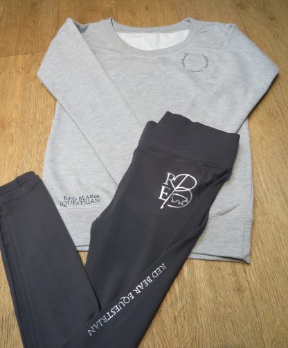 Grey fell collection sweatshirt and riding leggings