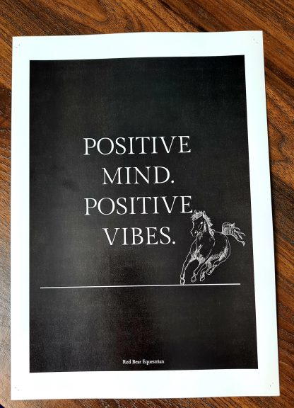 positive mind positive vibes print