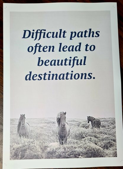 Difficult paths often lead to beautiful destinations. print
