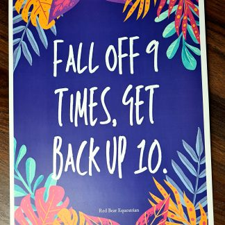 Fall off 9 times print