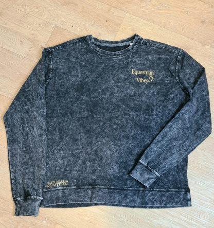 Equestrian vibes washed out sweatshirt