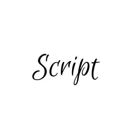 script text